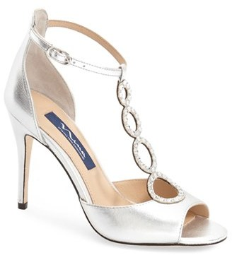 Nina 'Cathy' Swarovski Evening Sandal (Women) $248.95 thestylecure.com
