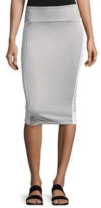 Puma Archive Logo Pencil Midi Skirt, Light Gray $40 thestylecure.com