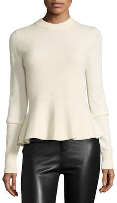 Veronica Beard Raleigh Cashmere Crewneck Peplum Sweater