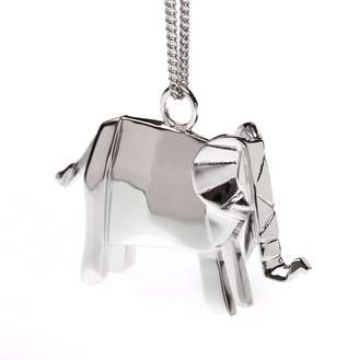 Origami Jewellery Elephant Necklace Sterling Silver