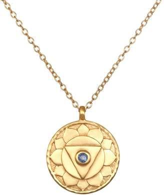 "Satya 18K Plated 36"" Gemstone Chakra Necklace"