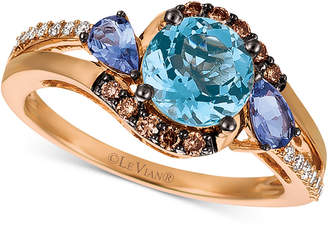 LeVian Le Vian Multi-Gemstone (1-1/4 ct. t.w.) & Diamond (1/5 ct. t.w.) in 14k Rose Gold