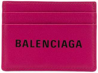 Balenciaga logo print cardholder