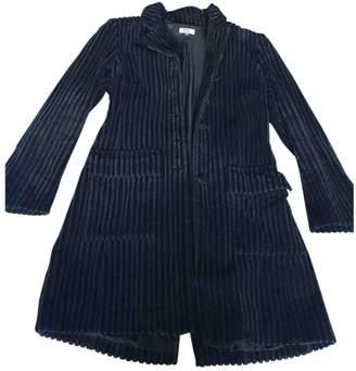 Et Vous Blue Cotton Coat for Women