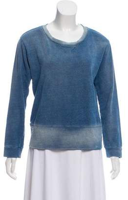 Monrow Ombré Long Sleeve Sweatshirt