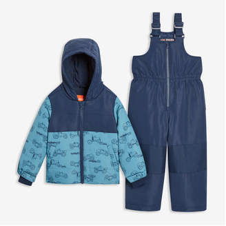 Joe Fresh Toddler Boys' PrimaLoft Snow Suit, Dark Navy (Size 2)