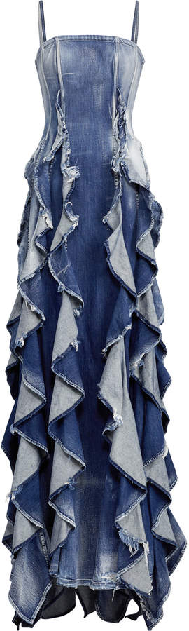 Ralph Lauren Denim Eve Evening Dress