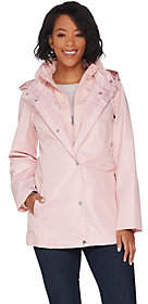 Susan Graver Zip Front Anorak Jacket with LaceAccents