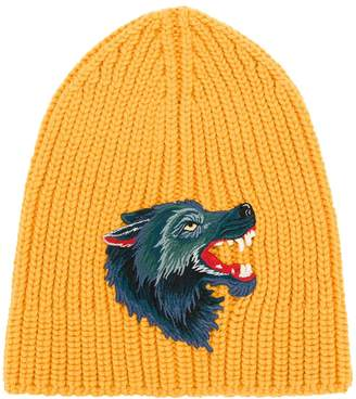 Gucci knitted Wolf beanie