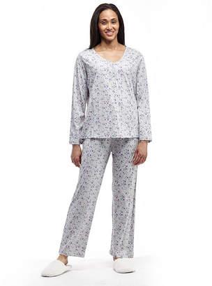 41780f3d3d7 La Cera Long Sleeve Knitted Printed PJs