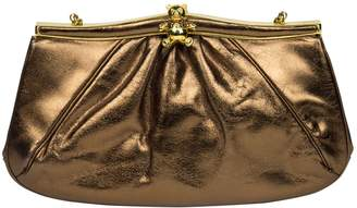 Judith Leiber Metallic Leather Clutch Bag