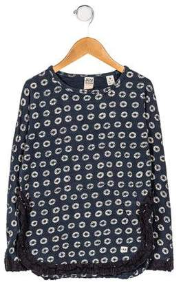 Scotch R'Belle Girls' Printed Long Sleeve Knit Top