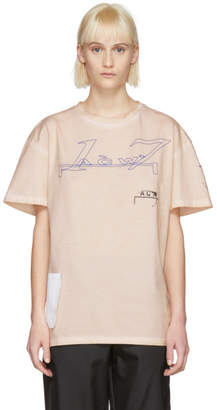 A-Cold-Wall* Pink 17 Leavers T-Shirt