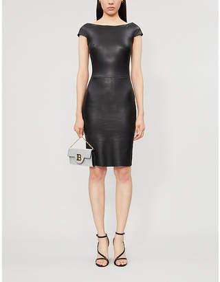 Jitrois Atlantic boat-neck leather dress
