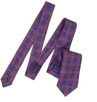 Serà Fine Silk - Purple and Orange Prosecco Silk Printed Tie