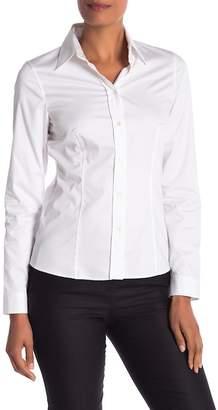 BOSS Long Sleeve Spread Collar Blouse