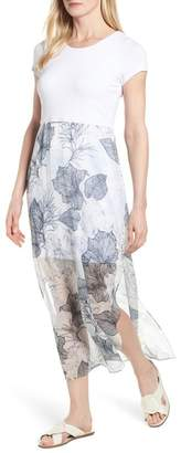Vince Camuto S/S CHIFFON ISLAND FLORAL OVER