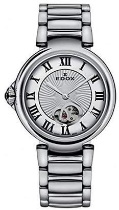 Edox Women's 85025 3M ARN LaPassion Analog Display Swiss Automatic Silver Watch