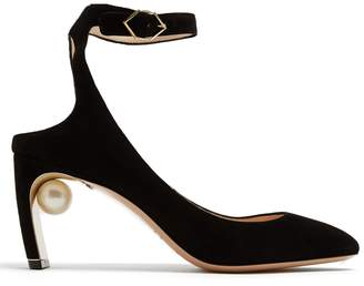 Nicholas Kirkwood Lola pearl-heeled suede pumps