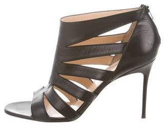 Christian Louboutin Leather Cutout Sandals