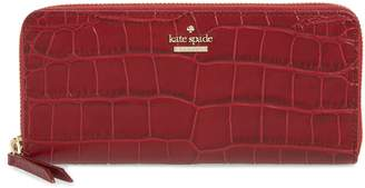 Kate Spade Murray Street - Lindsey Croc Embossed Leather Wallet