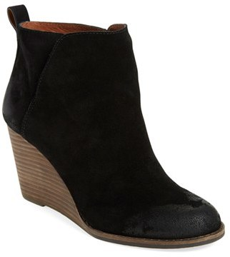 Women's Lucky Brand 'Yezzah' Wedge Bootie $138.95 thestylecure.com