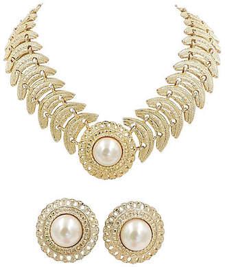 One Kings Lane Vintage 1980s Faux-Pearl Necklace & Earrings