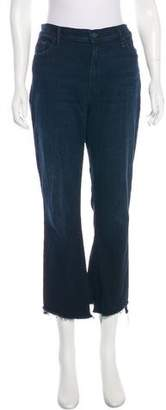Mother High-Rise Cropped Jeans