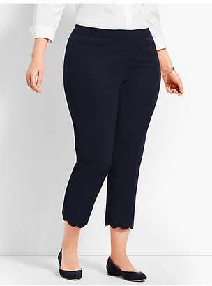 Talbots Womans Exclusive Hampshire Scallop Crop Pant