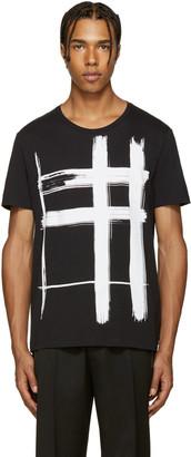 Burberry Black Check Print T-Shirt $195 thestylecure.com