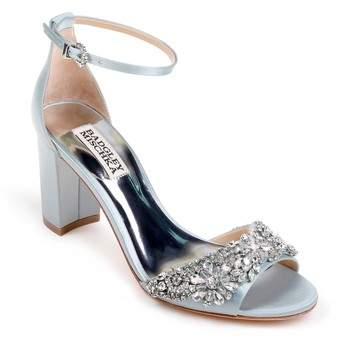 Badgley Mischka Hines Embellished Block Heel Sandal