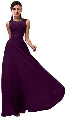 CaliaDress Women Tulle Appliques Long Bridesmaid Dress Prom Evening Gowns C002LF US