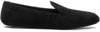 Bottega Veneta Woven Suede Flats $620 thestylecure.com