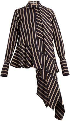 Palmer Harding PALMER/HARDING Spicy deconstructed asymmetric cotton shirt
