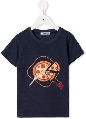Familiar pizza print T-shirt