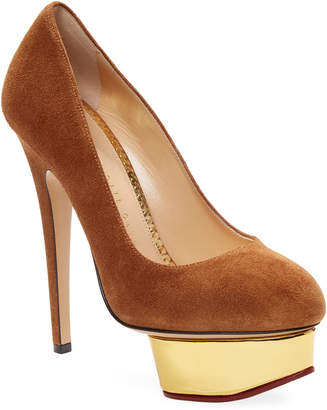 Charlotte Olympia Dolly Suede Platform Pump