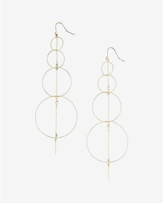 Express Linear Hoop Drop Earrings $24.90 thestylecure.com