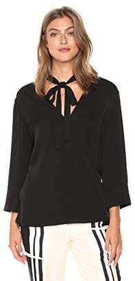 0f308d4c1c0368 Theory Women s 3 4 Sleeve Relaxed Wrap Vneck Top