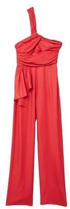 MANGO Ruffled asimetric jumpsuit