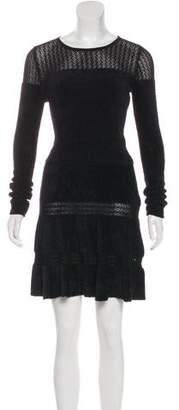 Alaia Long Sleeve Knee-Length Dress