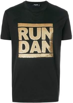 DSQUARED2 Run Dan sequin T-shirt