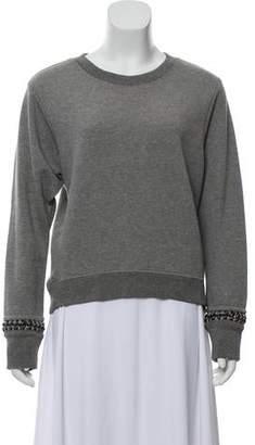 AllSaints Chain-Accented Pullover Sweatshirt