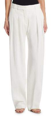 Victoria Beckham Victoria, Textured Two-Pleat Pants