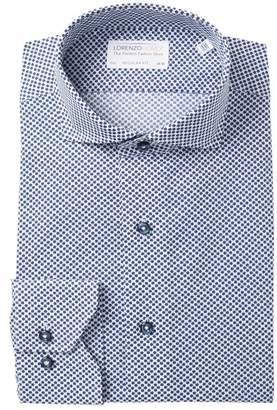 Lorenzo Uomo Floral Print Regular Fit Dress Shirt