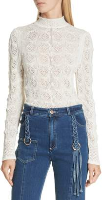 See by Chloe Pointelle Knit Pullover