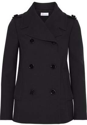 RED Valentino Double-Breasted Cotton-Blend Twill Coat