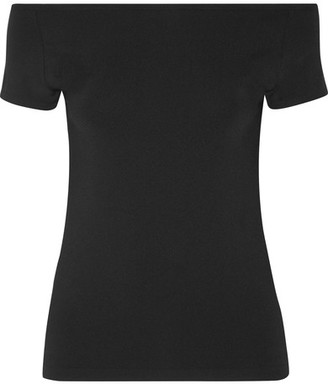 Helmut Lang - Off-the-shoulder Stretch-jersey Top - Black $125 thestylecure.com