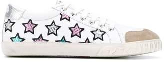 Ash Majestic Star Motif sneakers