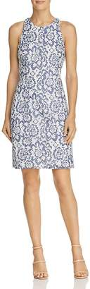 Adrianna Papell Floral Lace Racerback Sheath Dress