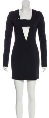 Anthony Vaccarello Cutout-Accented Bodycon Dress w/ Tags